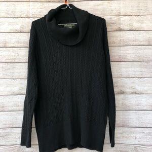 EDDIE BAUER Black Knit Turtle Neck Sweater